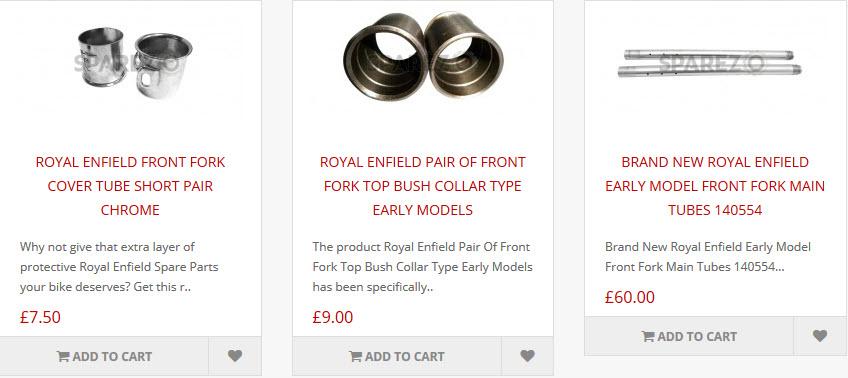 Royal Enfield Bullet Front Fork - Sparezo