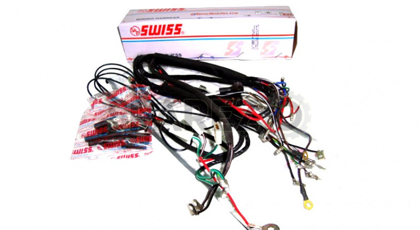 Awesome Royal Enfield 6V Complete Main Wiring Harness Sparezo Wiring 101 Akebretraxxcnl