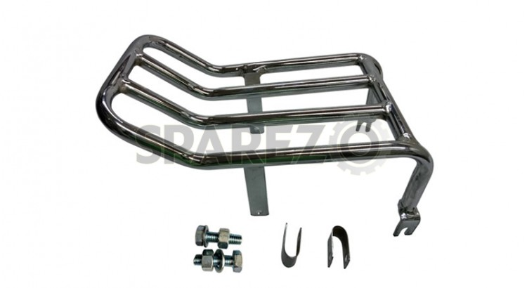 new royal enfield c5 rear luggage rack chromed