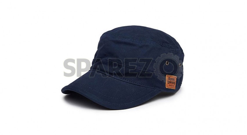 Genuine Royal Enfield Army Cadet Cap Navy Blue - Sparezo