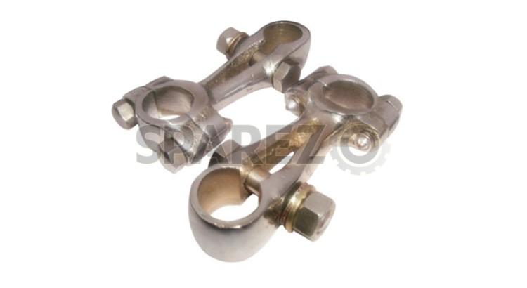 """Girder Fork Handlebar Clamps Chromed 7//8/"""" For Royal Enfield J J2 G G1 G2"""