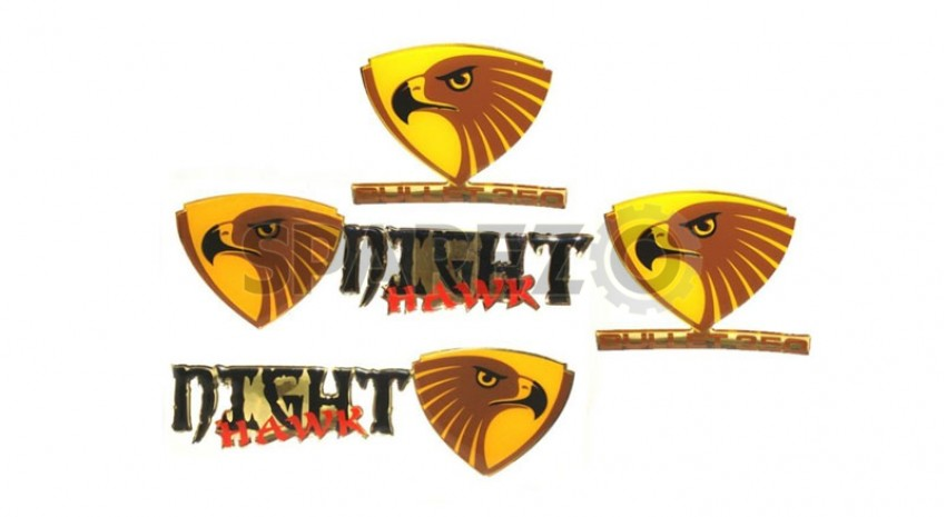royal enfield customized stylish night hawk decal set