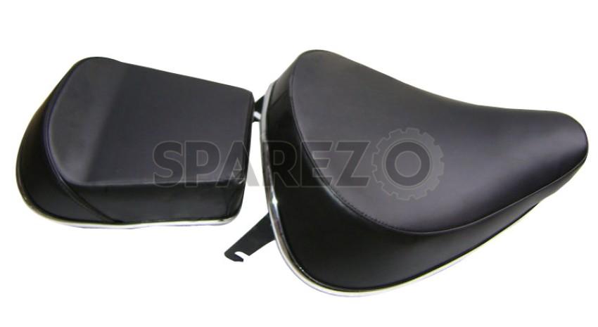 Royal Enfield Front /& Back Seat Complete Set Black Trump Norton Bullet