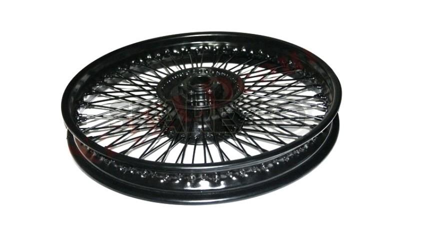 Royal Enfield Front 80 Spokes Disc Brake Steel Black Coated Wheel