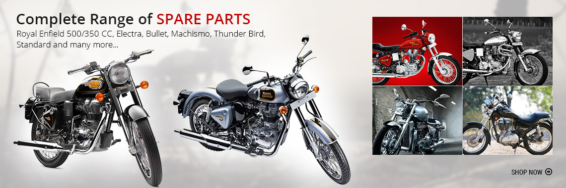 Royal Enfield Bullet Accessories and Spare Parts - Sparezo